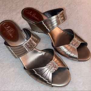 Cole Haan NikeAir Pewter Slide Heels
